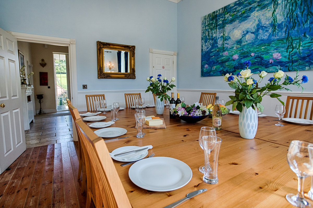 Dining Room Lambourn House, Holiday Accommodation, Functions, Events & Corporate, Lambourn, Berkshire, UK