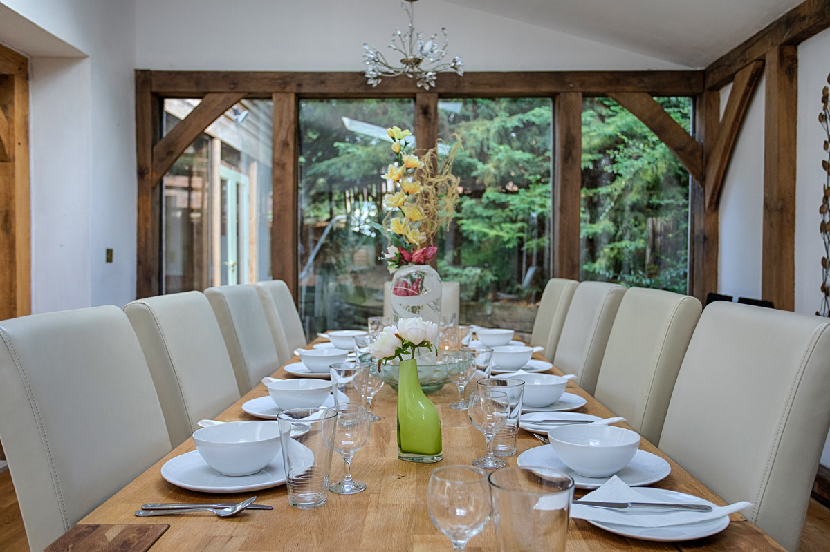 Dining Room Ridgeway House, Holiday Accommodation, Functions, Events & Corporate, Lambourn, Berkshire, UK